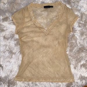 Lacey sheer vintage The Limited Top